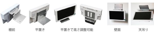 GP7D-WH (取り付け金具付き7インチ電子POPモニター)【グッドプランニング】